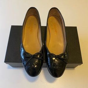 Chanel Patent Leather Ballet Flats- size 38.5